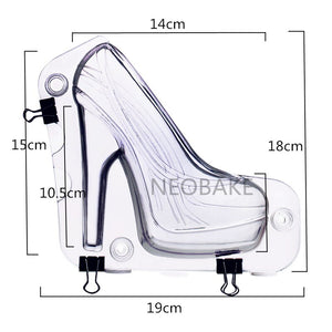 Big Size 3D Chocolate Mold High Heel Shoes Candy Cake Decoration Molds Cake Tools DIY Home Baking Pastry Tools Lady Shoe Mold