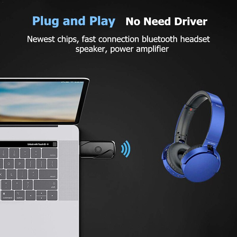 Binful Bluetooth Adapter Usb Dongle For Computer Pc Wireless Headset B Bargain Industries