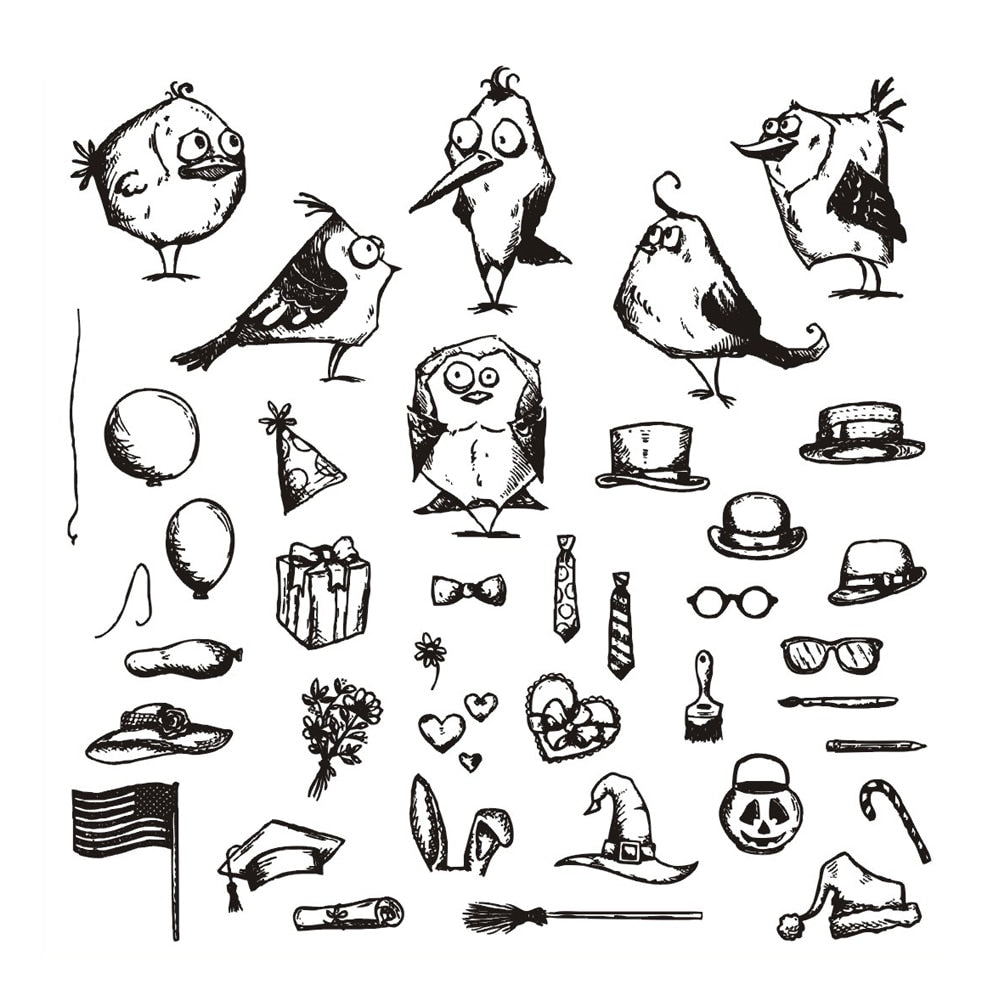 Bird Transparent Clear Silicone Stamp/Seal for DIY scrapbooking/photo album Decorative clear stamp