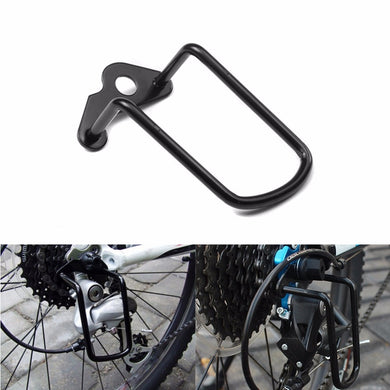Black Bicycle Rear Derailleur Hanger Chain Gear Guard Protector Cover Mountain Bike Cycling Transmission Protection Iron Frame