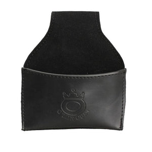 Black Faux Leather Chalk Holder Pouch with Clip Pool Billiards Snooker Cue For Snooker & Billiard Accessories
