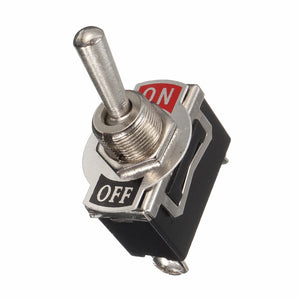 Black Heavy Duty ON/OFF SPST Toggle Switch Flick & Cover & Waterproof Boot Mayitr Electric Switches