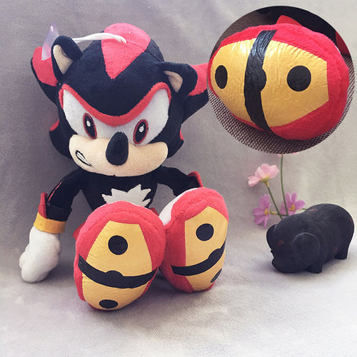 Black Sonic The 28cm Plush Toys Doll Peluche Dolls Anime Toys Gifts For Children