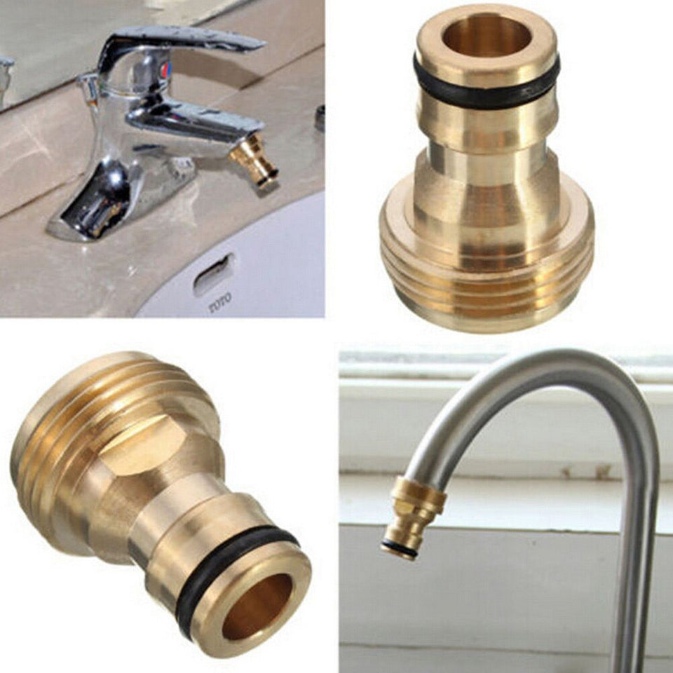Brass Faucets Standard Connector Washing Machine Gun Quick Connect Fitting Pipe Connections For Garden Tools 1PCS