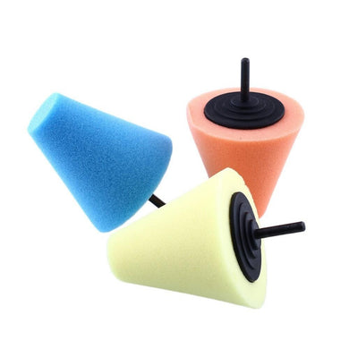 Burnishing Foam Sponge Polishing Pad Car Cone Shaped Pads  Wheel Hubs Disk