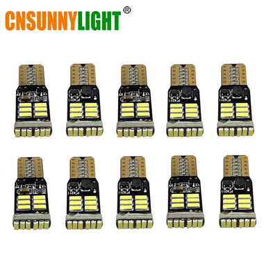 CNSUNNYLIGHT 10x T10 4014 LED 12V W5W led Car Bulbs 168 194 Turn Side License Plate Light Car Parking Fog Lamp clearance light