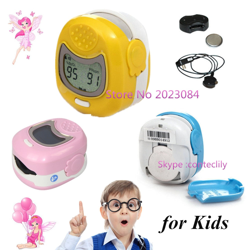 CONTEC Children/kids/Pediatric Finger Tip Pulse Oximeter CMS50QA, Spo2 Monitor