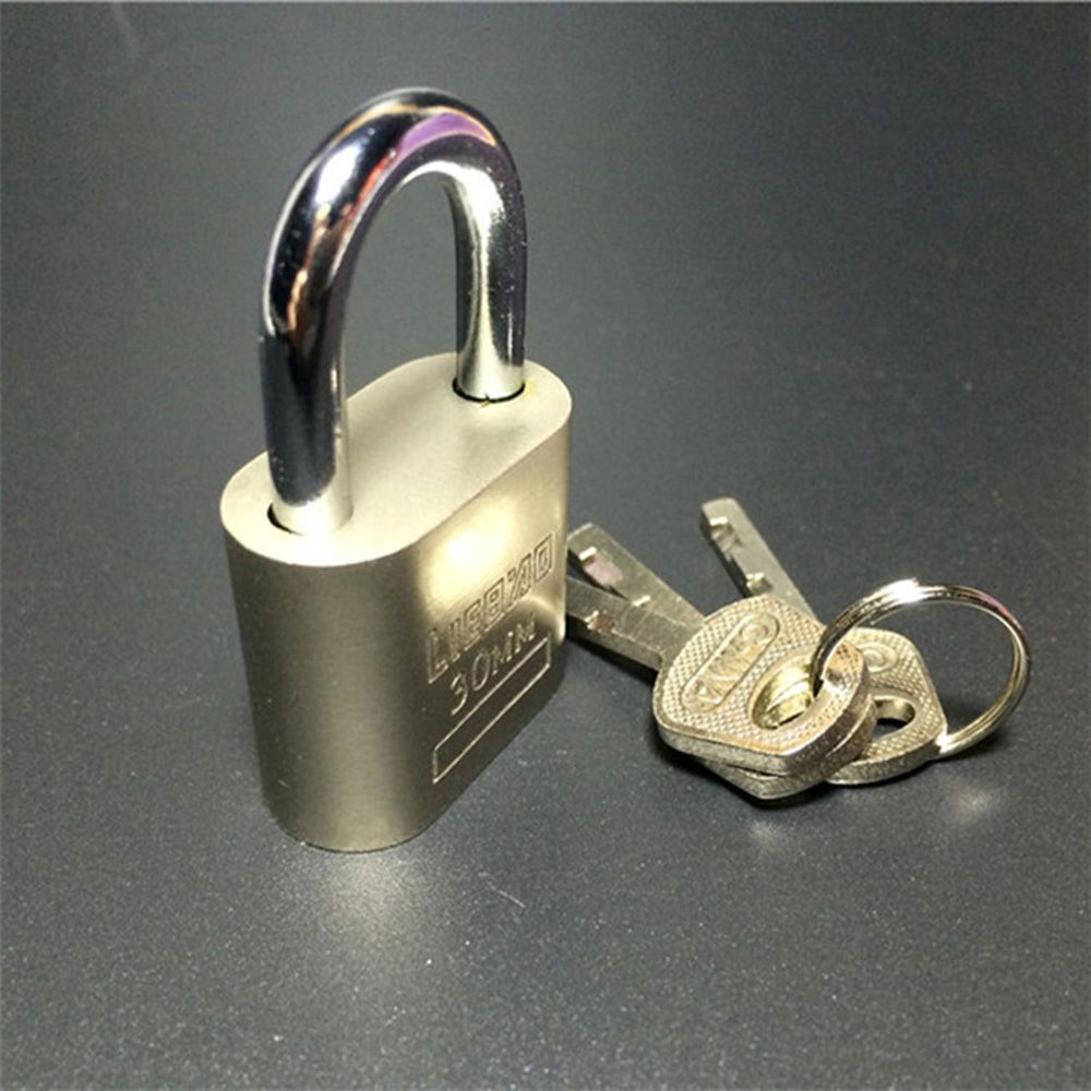 Cabinet Luggage Security Metal Lock Padlock Gold Silver Tone with 3 Keys Home Improvement Hardware Locks Free Shiping
