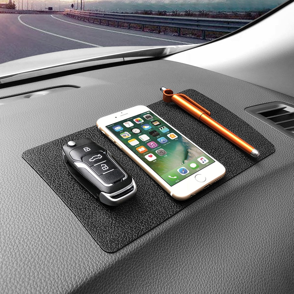 Car Anti-Slip Mat Ornament Silicone Multi-function Non-slip Pad Dashboard Decoration Trim Key Glasses Cell Phone 22.5x14.5CM