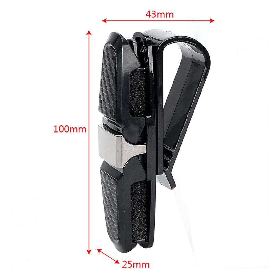 LEEPEE Car Sun Visor Sunglasses Holder Clip Universal Black Ticket Card Clamp Fastener Cip Car Glasses Cases Portable