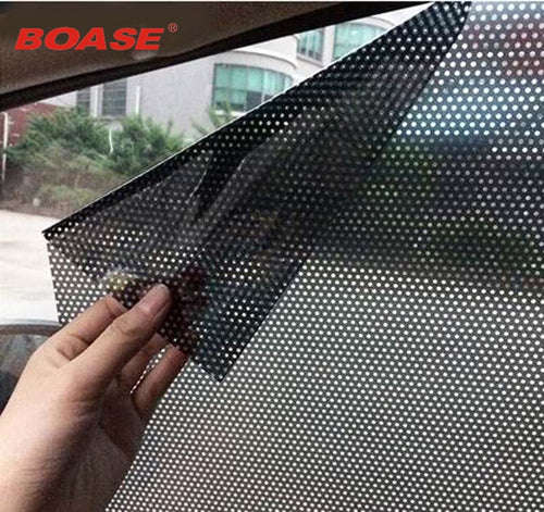 Car styling 2pcs/lot Uv sticker Car sunshade electrostatic stickers auto supplies sun block sun-shading stickers