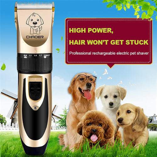 Cat Dog Hair Trimmer Electrical Pet Hair Clipper Remover Cutter Grooming Low Noise Rechargeable Cordless Pets Haircut Machine