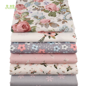 Chainho,6pcs/lot Floral Series Twill Cotton Fabric,Patchwork Cloth,DIY Sewing Quilting Fat Quarters Material For Baby&Child