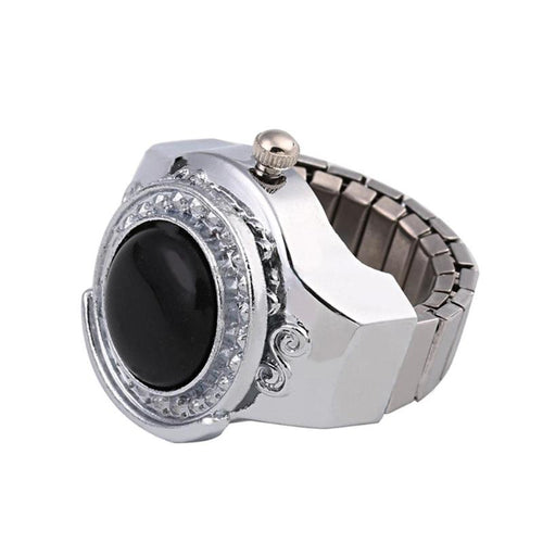 Charm Accessories Watch Clock Rings for Women Lady Men Watch Ring Jewelry Female Charm Electronic Quartz Finger Ring