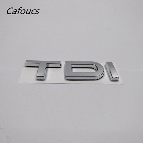 Chrome Silver TDI Letters Logo For Audi A3 A4 A5 A6 A8 Q3 Q5 Q7 TT Auto Rear Badge Emblem Sticker