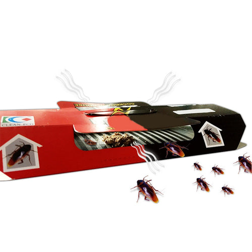 Cockroach Trap Pitfall House Killer Bug Insect Net Bait Catch Glue Home Pest Control Roach Black
