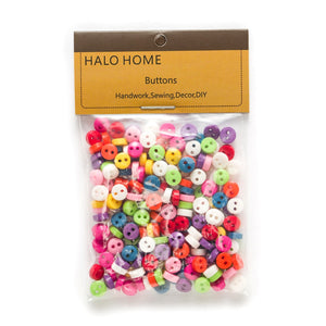 Colorful 100pcs Mixed 2 Hole Resin Cute Supper Mini Buttons Sewing Round Decor Card Making DIY Lovely Home Decor Tools 6mm