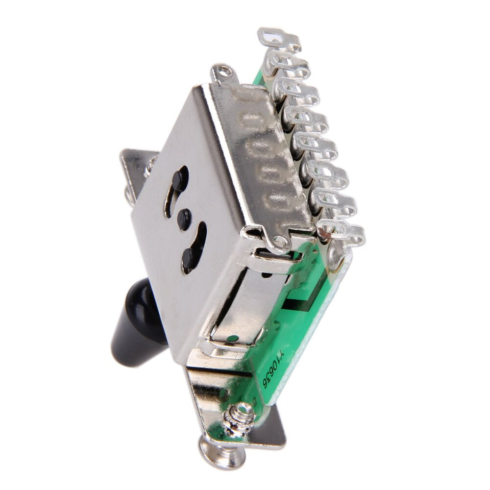 Colorful 5 Way Electric Guitar Pickups Toggle Selector Switch Parts Chrome With Knob Guitar Parts Accessories