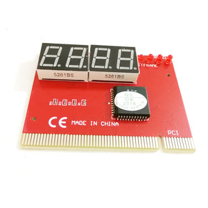Computer PCI POST Card Motherboard LED 4-Digit Diagnostic PC Analyzer Test POST Cards Plastic Metal High Stability Express Card