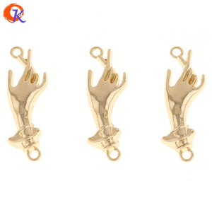 Cordial Design 50Pcs 15*45MM Jewelry Accessories/DIY Earrings/Gold Palm Shape/Earrings Base Making/Hand Made/Earring Findings