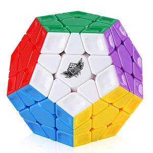 D-FantiX Cyclone Boy Dodecahedron 3x3 Magic Cube Stickerless Colorful Professional Smooth Twist Speed Cube Puzzle Antistress Toy