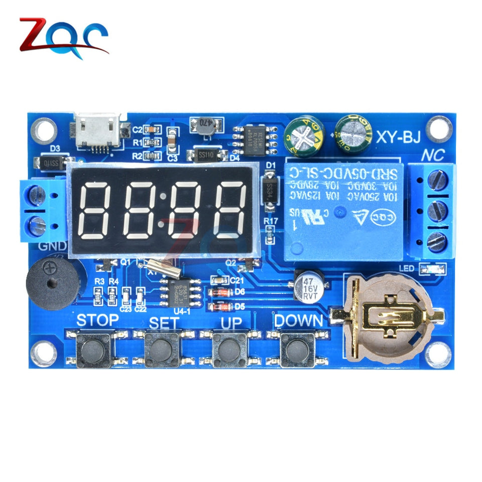 DC 40V Real time Timing Delay Timer Relay Module Switch Control ...