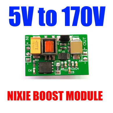 DC 5V to 170V DC boost High Voltage NIXIE & Magic Eye Tube HV BOOST Power Supply Module Glow clock tube