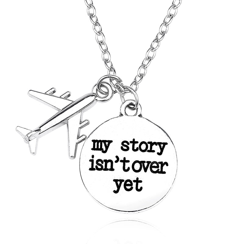 DIY Air Plane Necklace For Women Letter