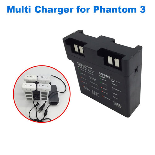 4 IN 1 Charging Hub Multi for DJI Phantom 3 Drone Flight Battery Smart Charger Adapter Rapid Fast Parallel Charge Accessory