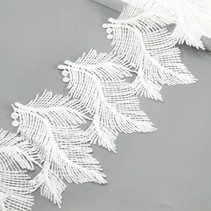 David Accessories 13cm Embroidered Flower Leaf Lace Trim Ribbon 1 yards,DIY Garment Supply,Sewing Accessories, 1Y53886