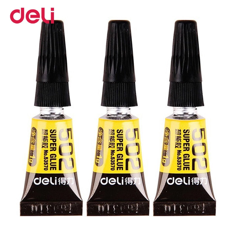 Deli 502 strong adhesive glue Strong adhesion for a variety of Super Glue school office stationery supply plastic glass metal