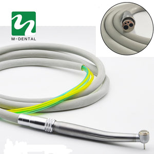 Dental 4 Holes Handpiece Hose Tube with Connector for High Speed Handpiece Dentistry Material