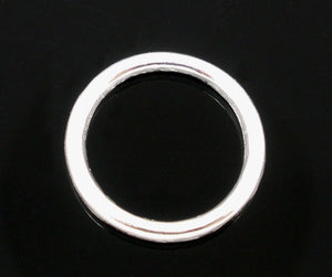 "DoreenBeads Zinc metal alloy Closed Soldered Jump Rings Round Silver color 10mm(3/8"")Dia,55 PCs"