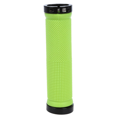 Double Road Mountain MTB BMx Bike Cycle Bicycle Lock on Locking Handlebar Grips - Green