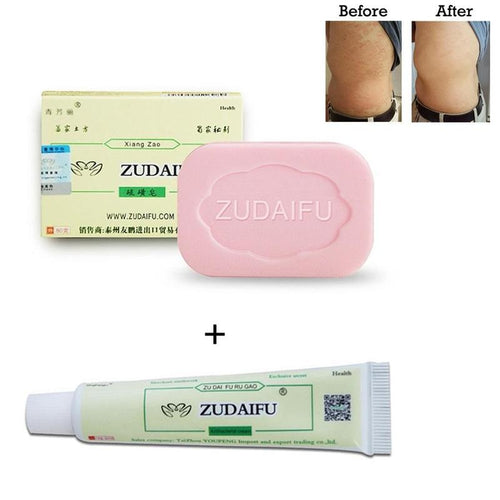 Zudaifu Psoriasis Cream antibacterial Psoriasis Eczema Cream Massage Plus Zudaifu Herbal Soap