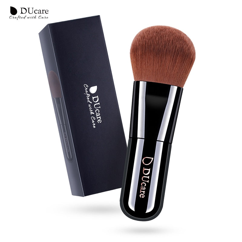 Ducare foundation brush 1pcs professional makeup brushes  high quality make up brushes  top brown Synthetic Hair