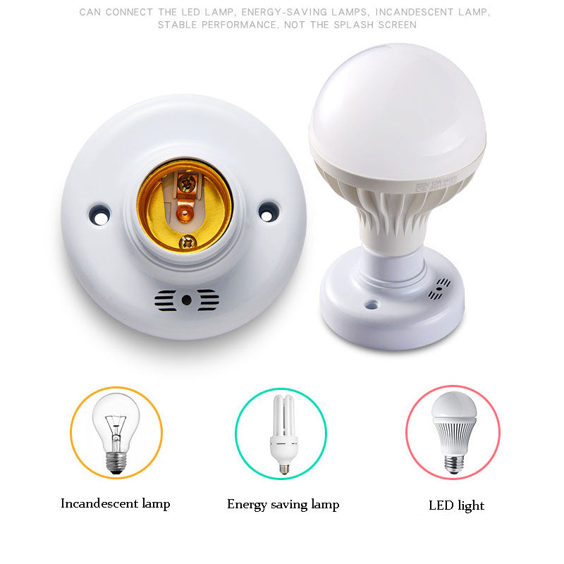 E27 Lamp Base Sound Voice Control AC 110V-220V LED Sound Voice Control Delay Switch LED Lamp Bulb Holder for corridor