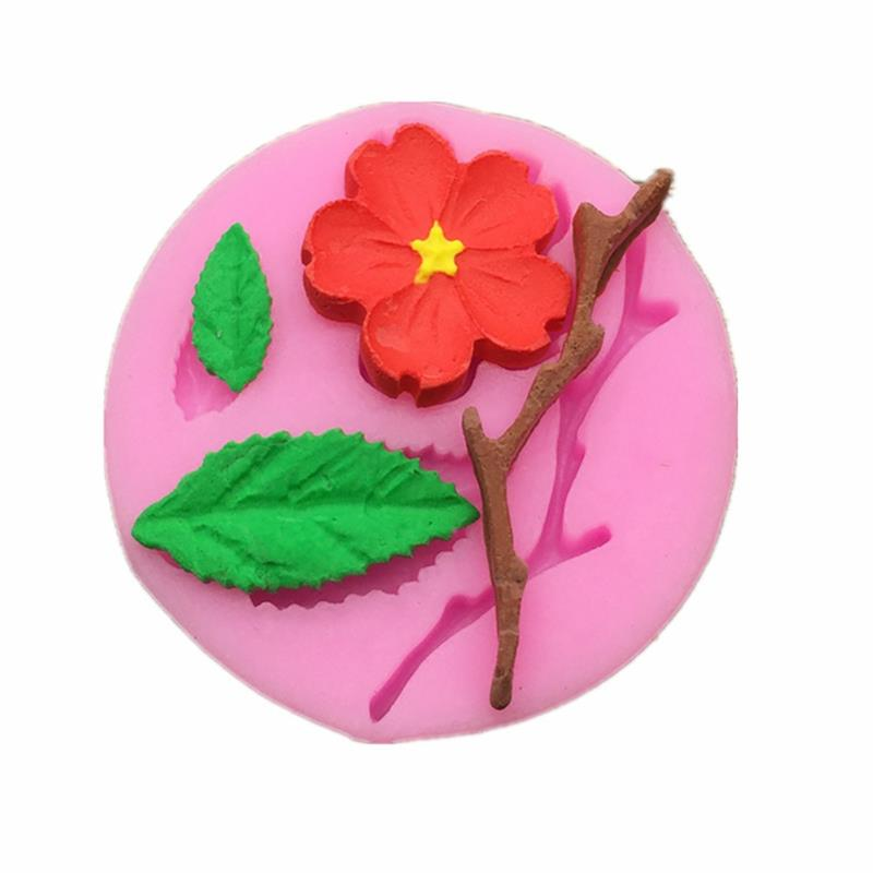 ENGDASH 1pc 3D Food Grade Silicone Mold Peach Blossom Cake Decorating Tool Chocolate Candy Jello Baking DIY Molds Kitchen Tool