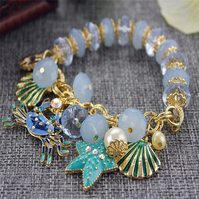 ENZE Fashion bracelet 2014 fashion and pure and fresh quietly elegant bracelet  contracted crabs many elements