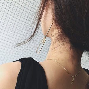 Ear Jewelry Minimalism Long Dangle Earrings Pearl Chain Design Earrings For Women 6B1028