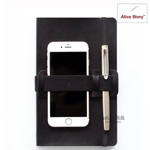 Elastic band Stationery holder storage accessories school office file diary pen handy holder accessory notebook