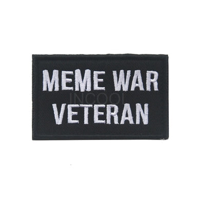 Embroidered Patch Meme War Veteran Morale Patch Tactical Emblem Badges Embroidery Patches For Jackets Jeans Backpack Cap