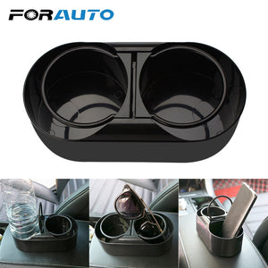 FORAUTO Dual Hole Drink Bottle Water Beverage Holder Cup Holder Stand Car Truck Mount ABS Universal Car Styling Auto Accessories