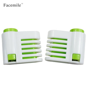 Facemile 2pcs 5 Layers DIY Cake Bread Cutter Leveler Slicer Set Cutting Fixator Tools cake decorating tools For Kitchen