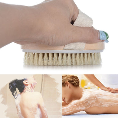 Female Dry Skin Body Brush Massager Natural Bristles Wood Improve Skin's Healthy #H0VH# Drop shopping