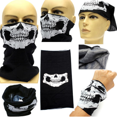 Festival Skull Face Mask Biker Halloween Scary Mask Skeleton Outdoor Motorcycle Bicycle Multi Masks Scarf Ghost