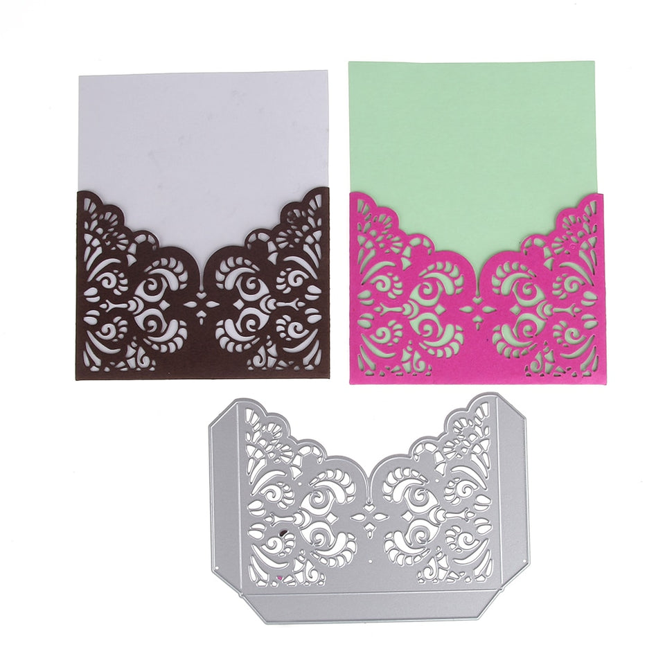 Lace Pocket frame metal cutting dies scrapbooking craft die cut Card make album Emboss Stencil 145*103mm
