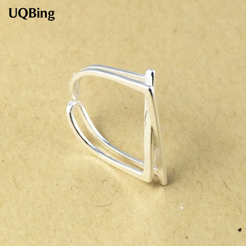 925 Sterling Silver Rings 925 Geometric Open Rings Jewelry anillo de plata anello