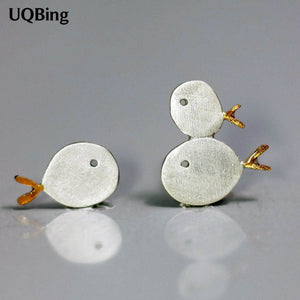 Fashion 925 Sterling Silver Family Fish Stud Earrings Animal Small Fish Earrings For Women Jewelry