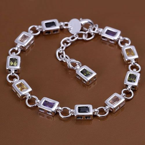 silver plated jewelry bracelet fine fashion rose bracelet top quality  and retail SMTH261